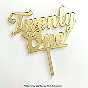 Number TWENTY ONE (Gold Mirror) - Cake Topper