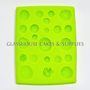 Round Patterned Buttons Silicone Mold