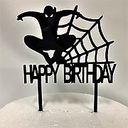 Spider-Man Black Acrylic Cake Topper