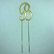 Letter B Gold Metal Cake Topper