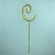 Letter C Gold Metal Cake Topper