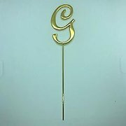 Letter G Gold Metal Cake Topper