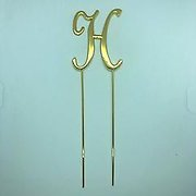 Letter H Gold Metal Cake Topper