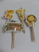 Safari Animals Cupcake Toppers