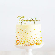CONGRATULATIONS (Gold Metal) - Cake Topper