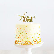 AWESOME DAD (Gold Metal) - Cake Topper