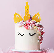UNICORN SET (Gold Glitter) - Cake Topper