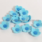 Blue Flowers Edible Toppers - 12 pack