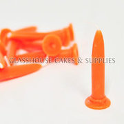 Orange Bullet Candles 10 pack