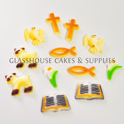 Christian Themed Edible Toppers - 12 pack