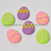 Decorated Easter Eggs Edible Toppers - 12 packs