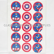 Captain America Cupcake Edible Images