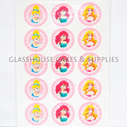 Disney Princesses Cupcake Edible Images