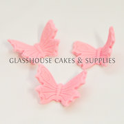 Pink Butterfly Edible Toppers - 12 pack