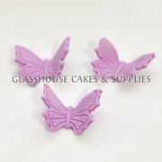Purple Butterfly Edible Toppers - 12 pack