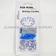 Fox Run Blue Birthday Candle Set