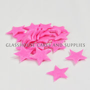 20 Small Icing Stars Pink
