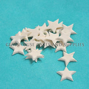 20 Small Icing Stars White