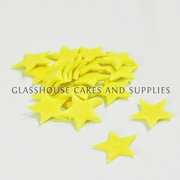 20 Small Icing Stars Yellow