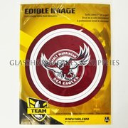 Manly Sea Eagles Edible Image