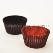 50 Mini Patty Cups Choc Brown