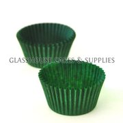 50 Mini Patty Cups Dark Green