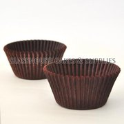 50 Patty Cups Choc Brown