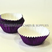 50 Metallic Purple Patty Cups