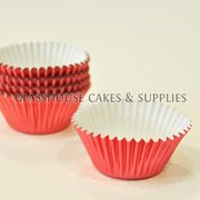 50 Mini Metallic Pink Patty Cups