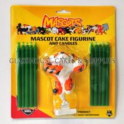 Tigers NRL Cake Figurine and Candles