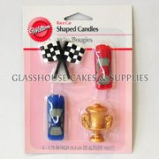 4 Wilton Race Car Themed Candles