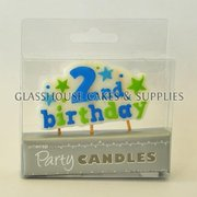 2nd Birthday Boy candle