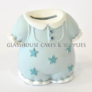 Blue Onesie Ceramic Topper