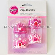 4 Princess Crown Shaped Candles