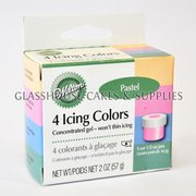 Wilton 4 Icing Colours - Pastel