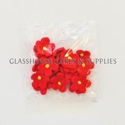 Pack of 20 Small Flowers - Red