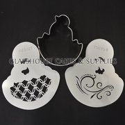 Chick in Egg Cutter and Stencil Set