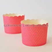 25 Fox Run Red/White Dot Cups Robert GOrdon