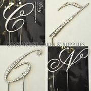 3 Diamante Script Letters of your choice
