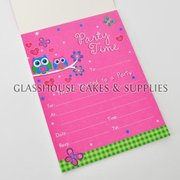 Pink Owls Party Invitations