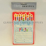 Birthday Candle Party Invitations
