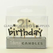 21st Birthday Stars Candle