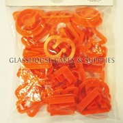 Orange Plastic Alphabet Cookie Cutters