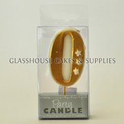 Gold 0 Candle