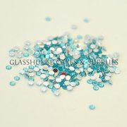 Pale Blue Round Bling