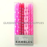 Small Pink Tapered Party Candles