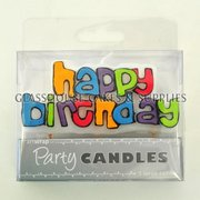 Colourful Happy Birthday Candle