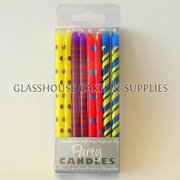 Small Bright Tapered Party Candles