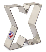 Letter 'X' - Cookie Cutter