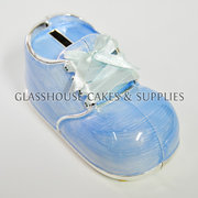 Metal Shoe Coin Bank Blue